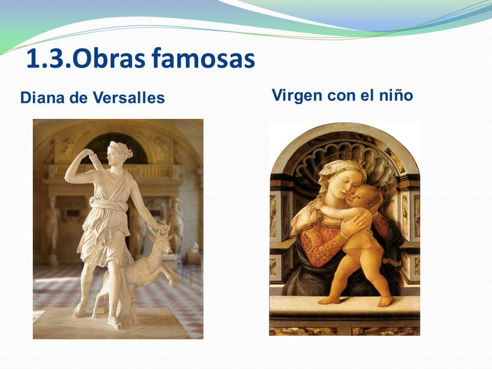 1.3.Obras famosas Virgen con el niño Diana de Versalles