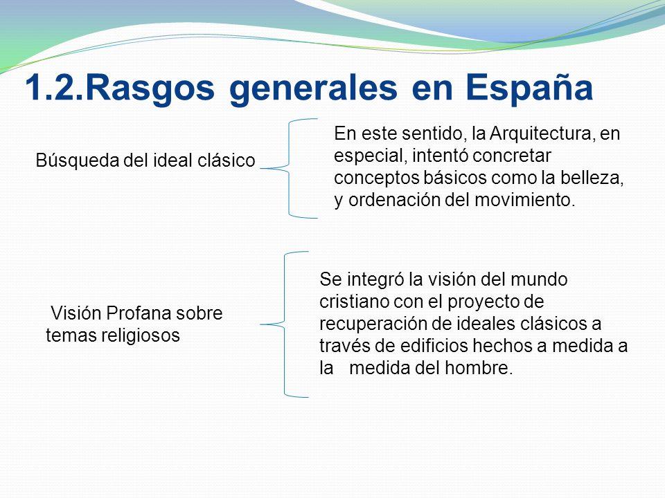 1.2.Rasgos generales en España