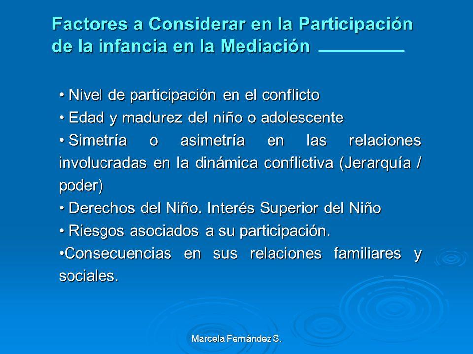 Factores a Considerar en la Participación de la infancia en la Mediación