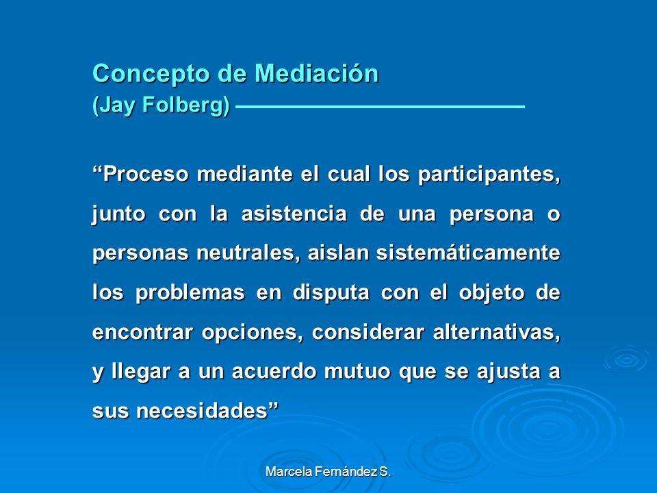 Concepto de Mediación (Jay Folberg)