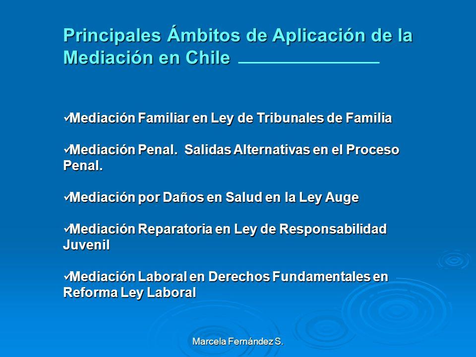 Principales Ámbitos de Aplicación de la Mediación en Chile
