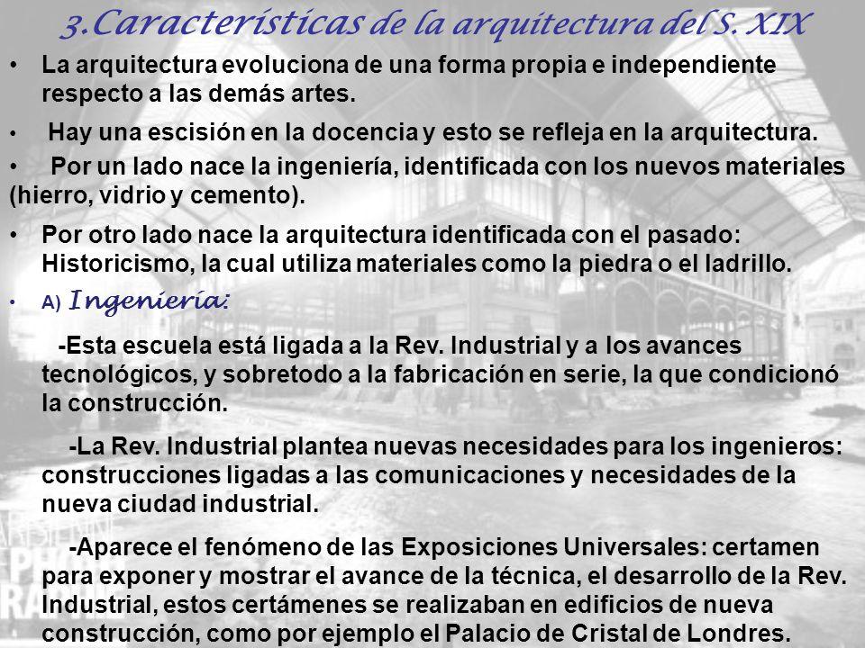 3.Características de la arquitectura del S. XIX