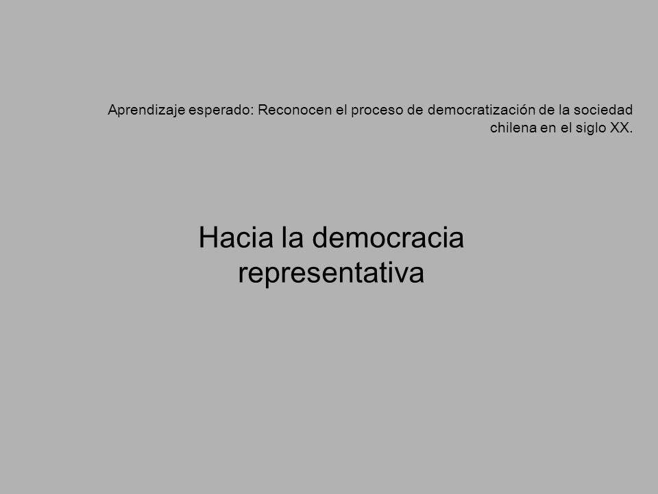 Hacia la democracia representativa