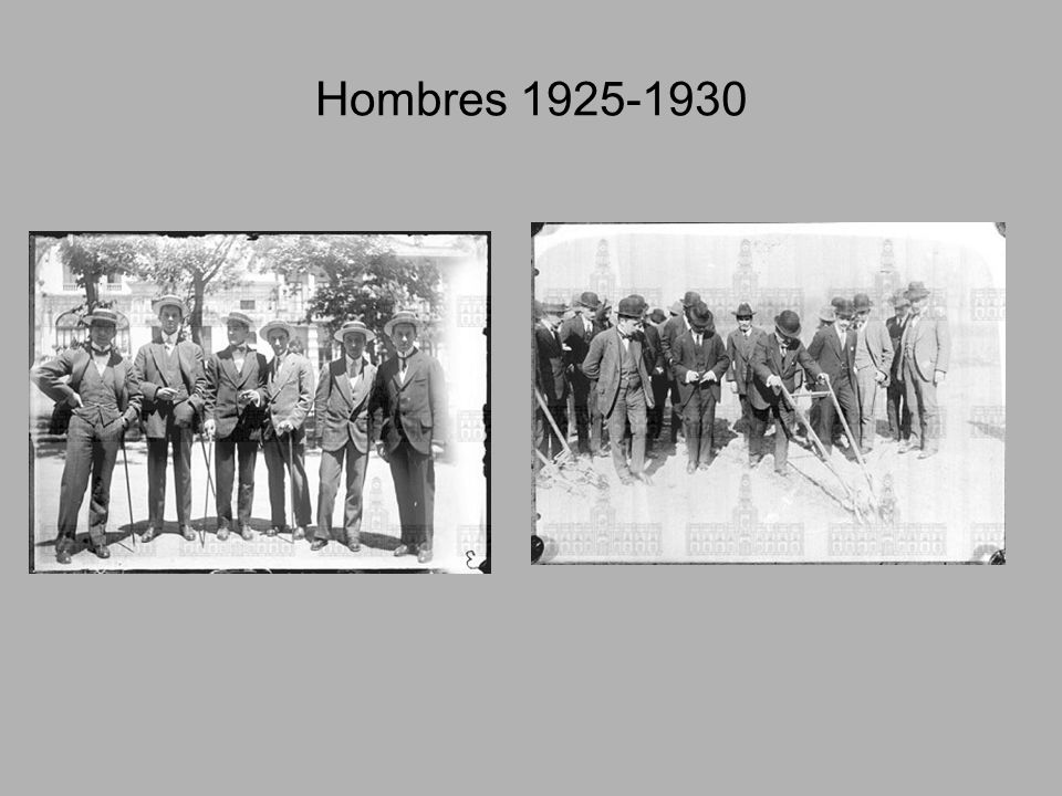 Hombres 1925-1930