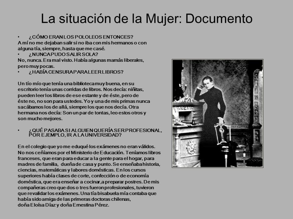 La situación de la Mujer: Documento