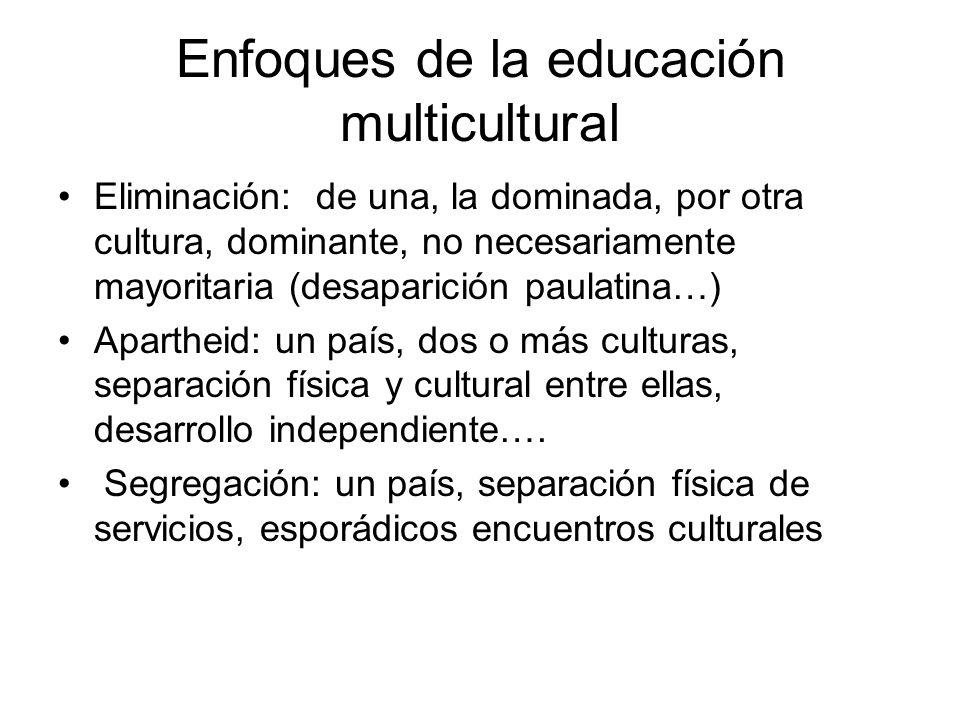Enfoques de la educación multicultural