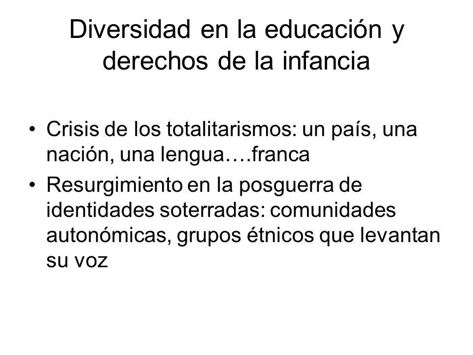 Diversidad en la educación y derechos de la infancia