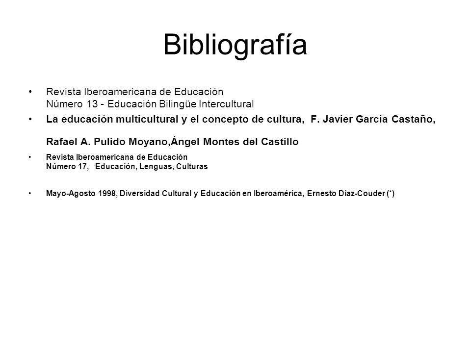 Bibliografía Revista Iberoamericana de Educación Número 13 - Educación Bilingüe Intercultural.
