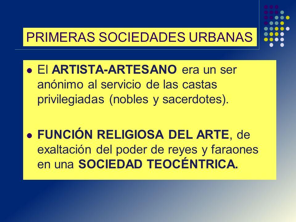 PRIMERAS SOCIEDADES URBANAS