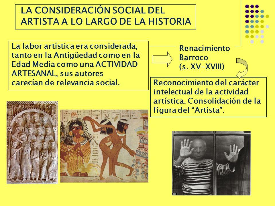 LA CONSIDERACIÓN SOCIAL DEL ARTISTA A LO LARGO DE LA HISTORIA