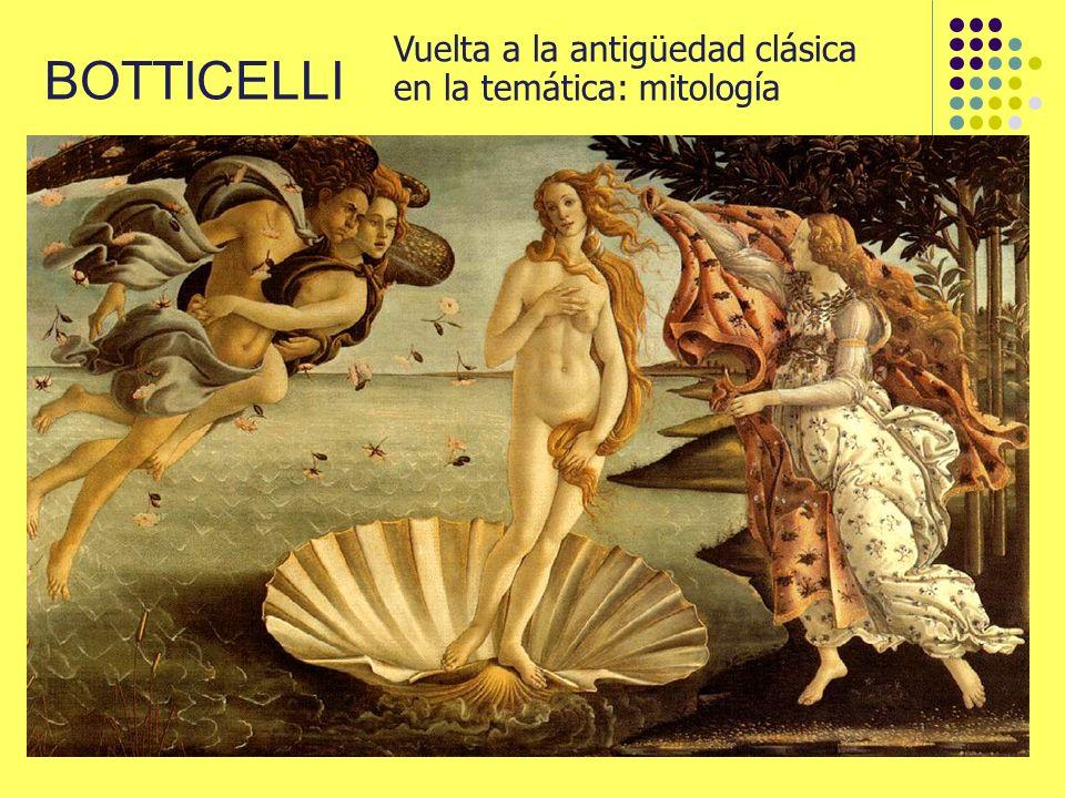 Vuelta a la antigüedad clásica en la temática: mitología