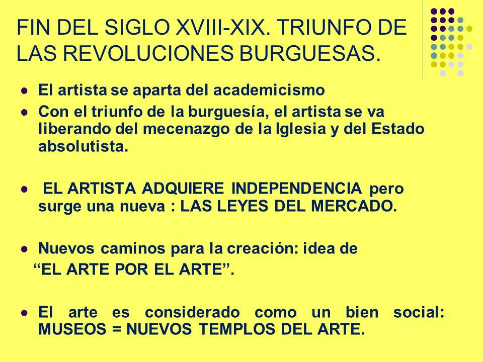 FIN DEL SIGLO XVIII-XIX. TRIUNFO DE LAS REVOLUCIONES BURGUESAS.