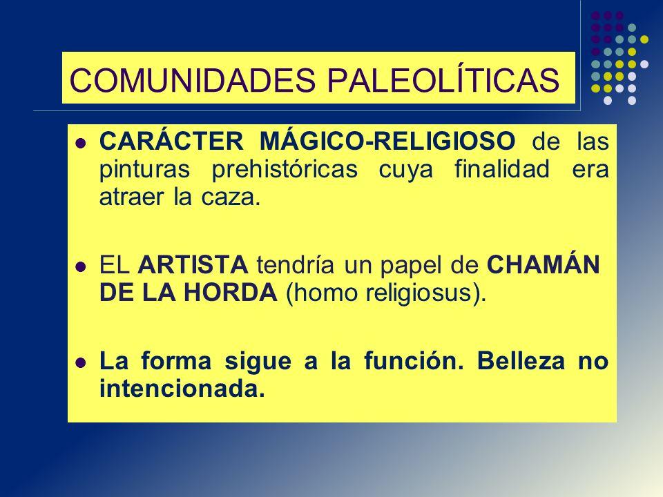 COMUNIDADES PALEOLÍTICAS