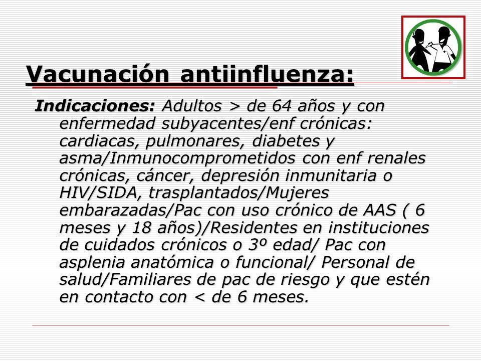 Vacunación antiinfluenza: