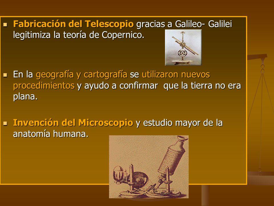 Fabricación del Telescopio gracias a Galileo- Galilei legitimiza la teoría de Copernico.