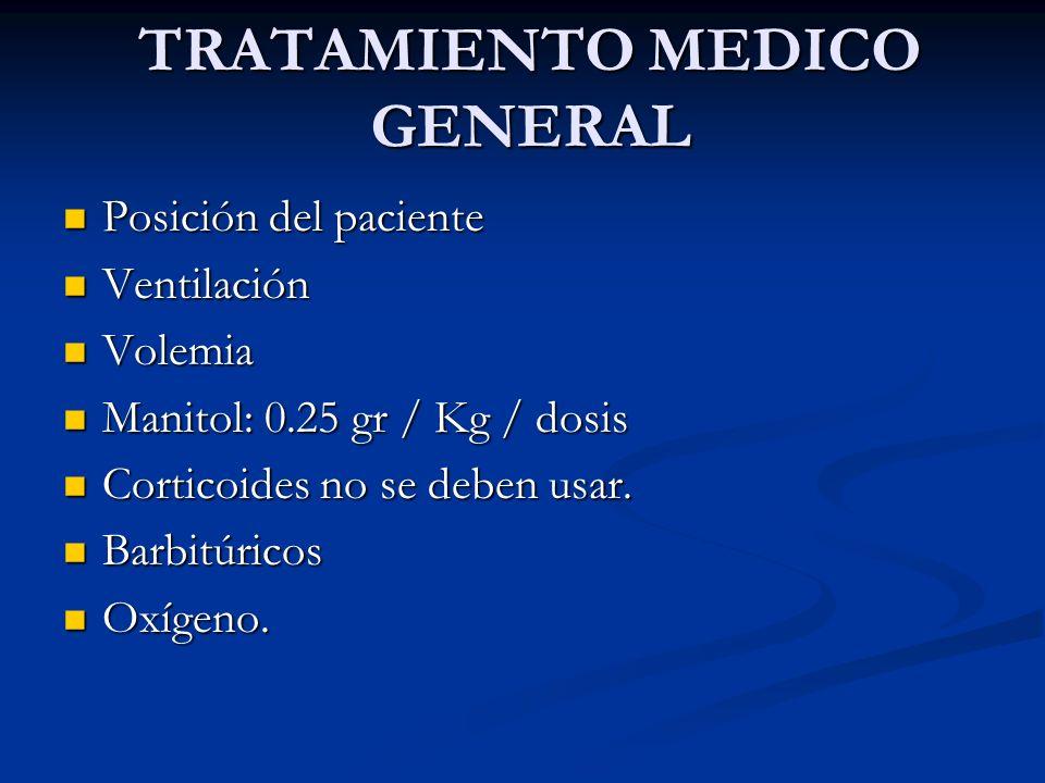TRATAMIENTO MEDICO GENERAL