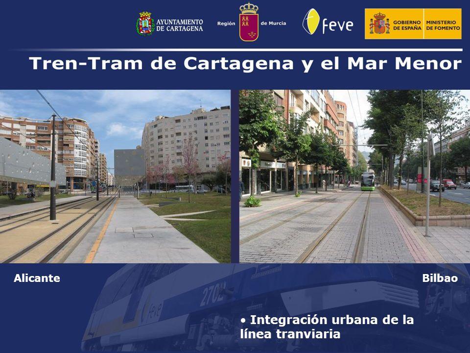 Integración urbana de la línea tranviaria