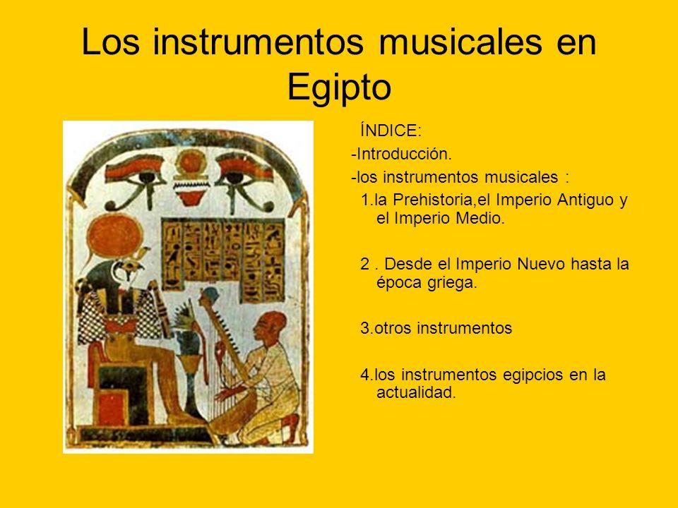 Los instrumentos musicales en Egipto