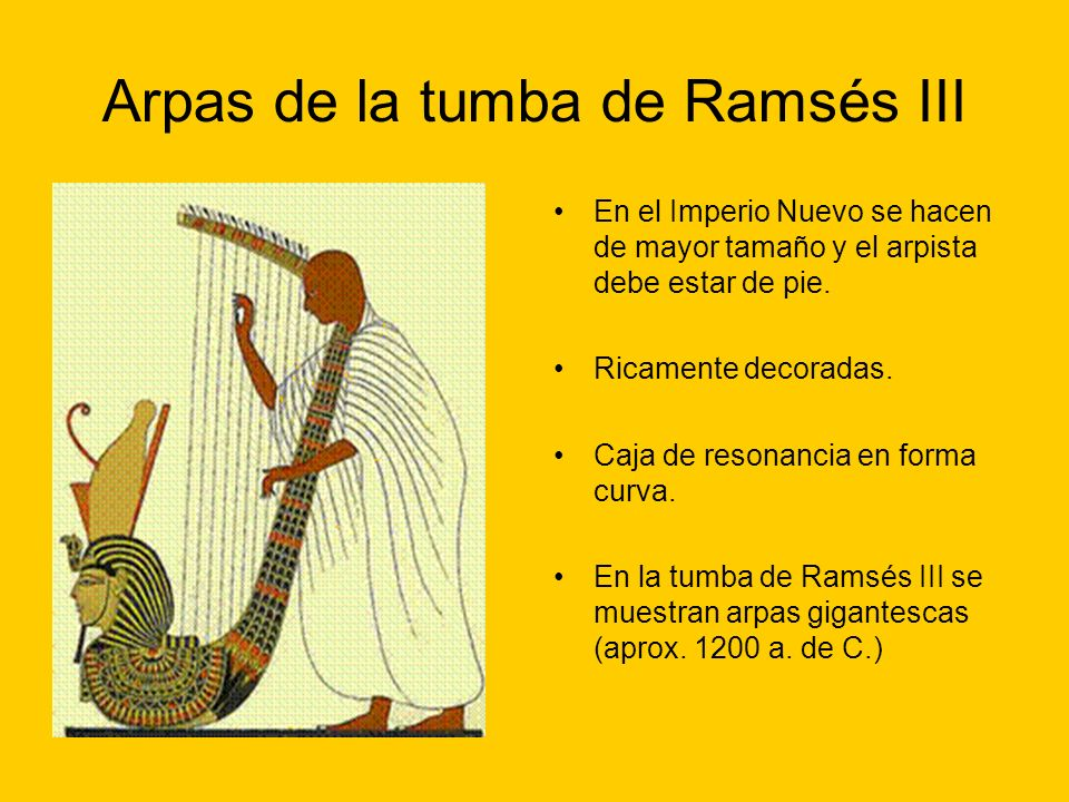 Arpas de la tumba de Ramsés III