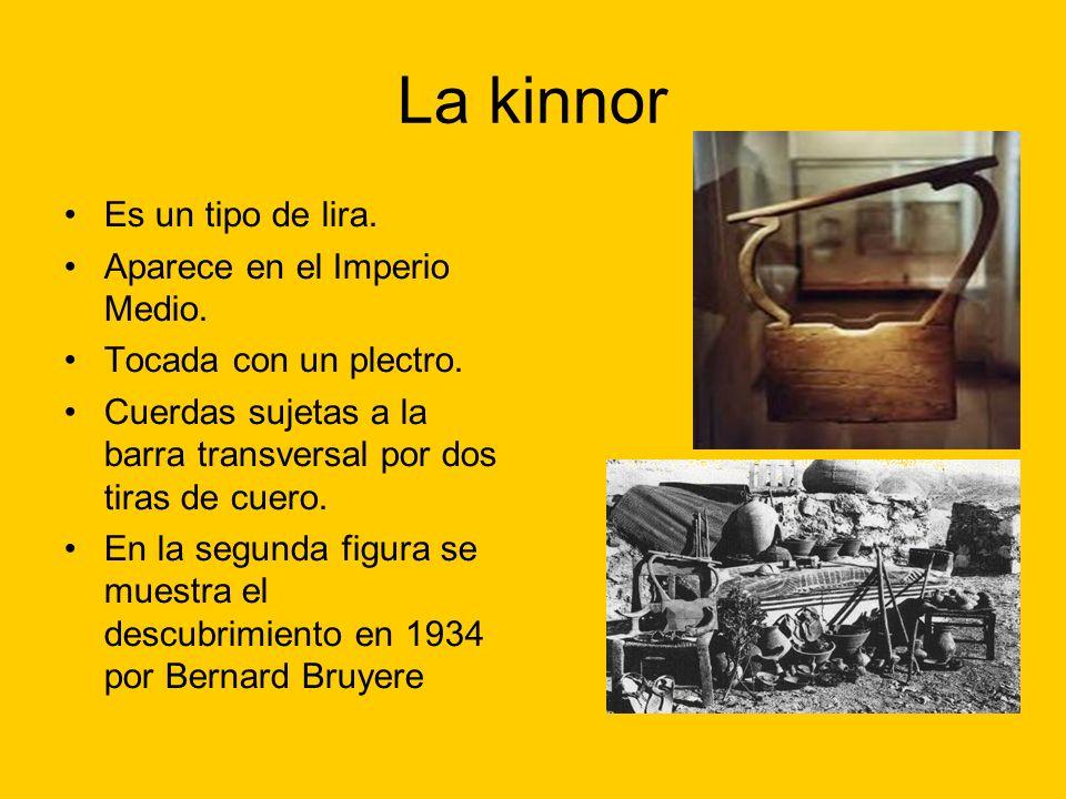 La kinnor Es un tipo de lira. Aparece en el Imperio Medio.