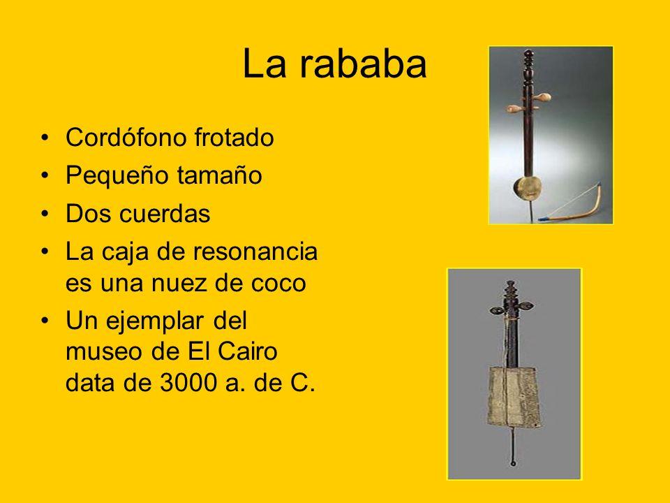 La rababa Cordófono frotado Pequeño tamaño Dos cuerdas