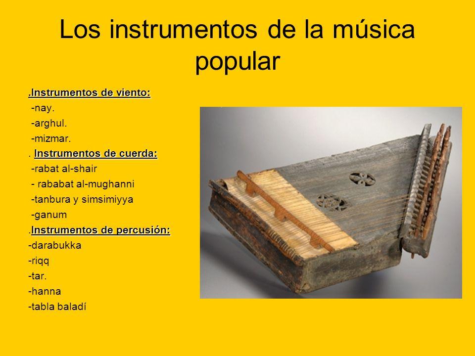 Los instrumentos de la música popular