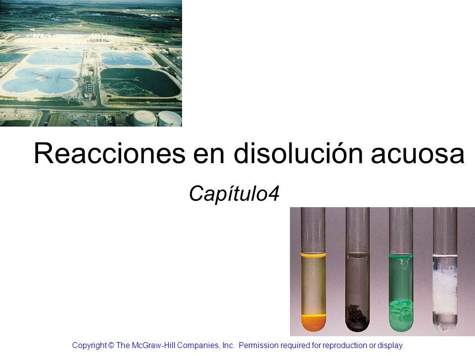Reacciones en disolución acuosa