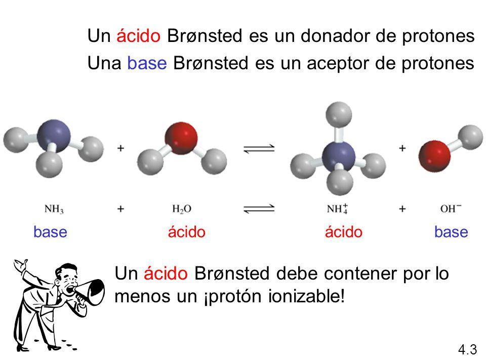 Un ácido Brønsted es un donador de protones