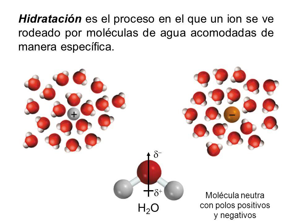 Molécula neutra con polos positivos y negativos
