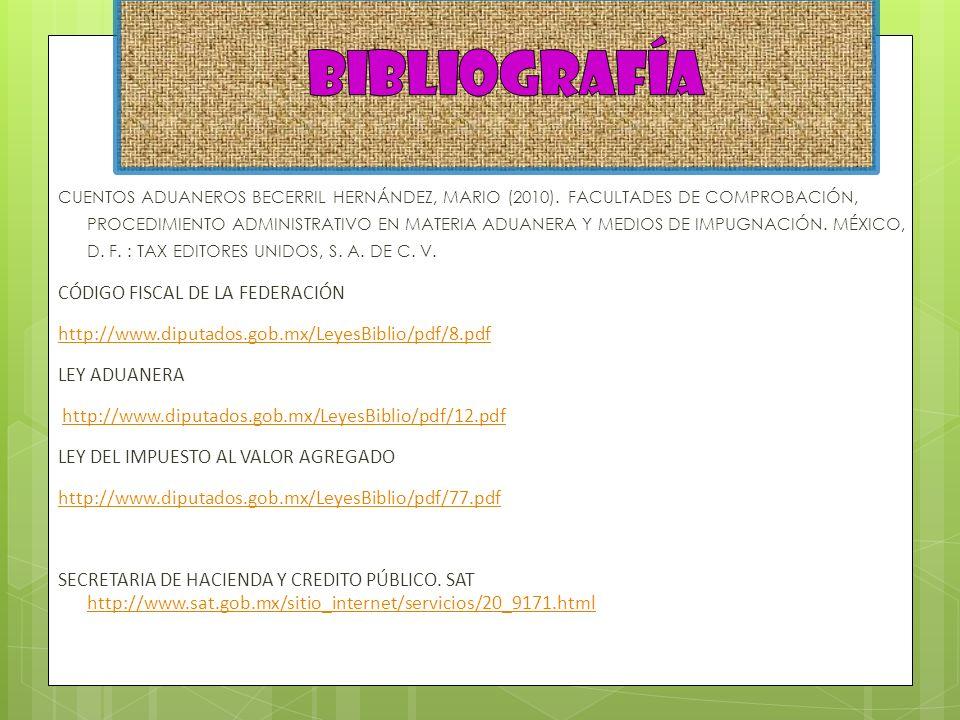 bibliografía CÓDIGO FISCAL DE LA FEDERACIÓN