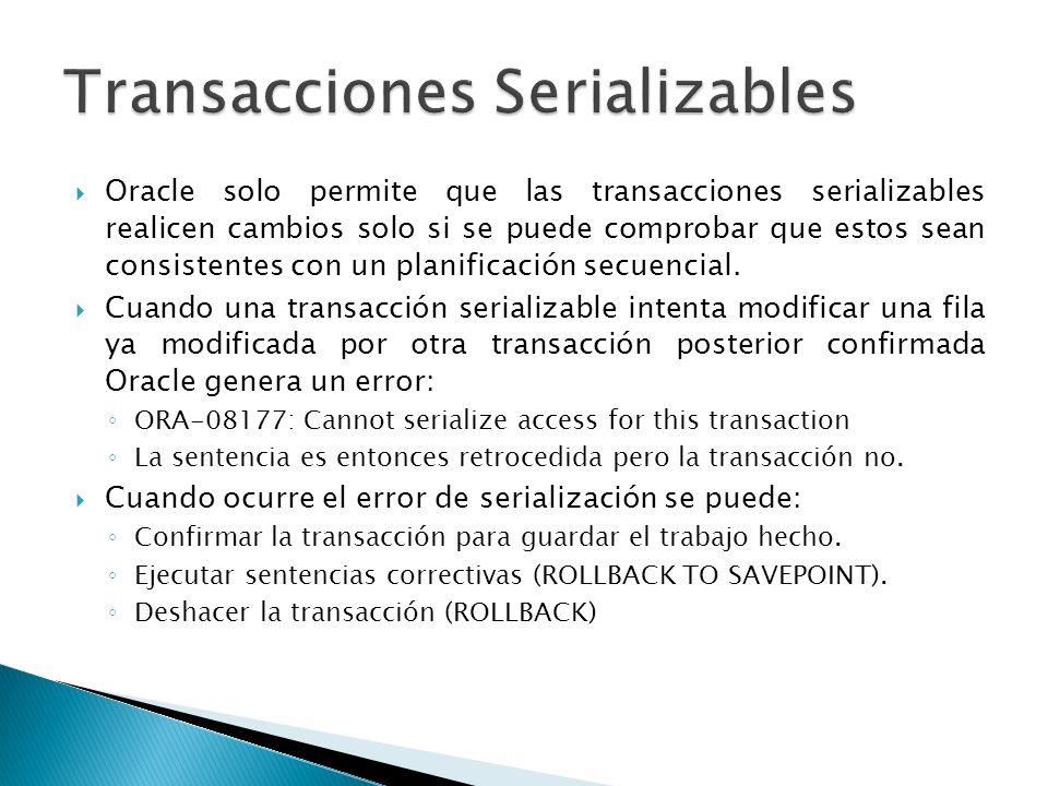 Transacciones Serializables