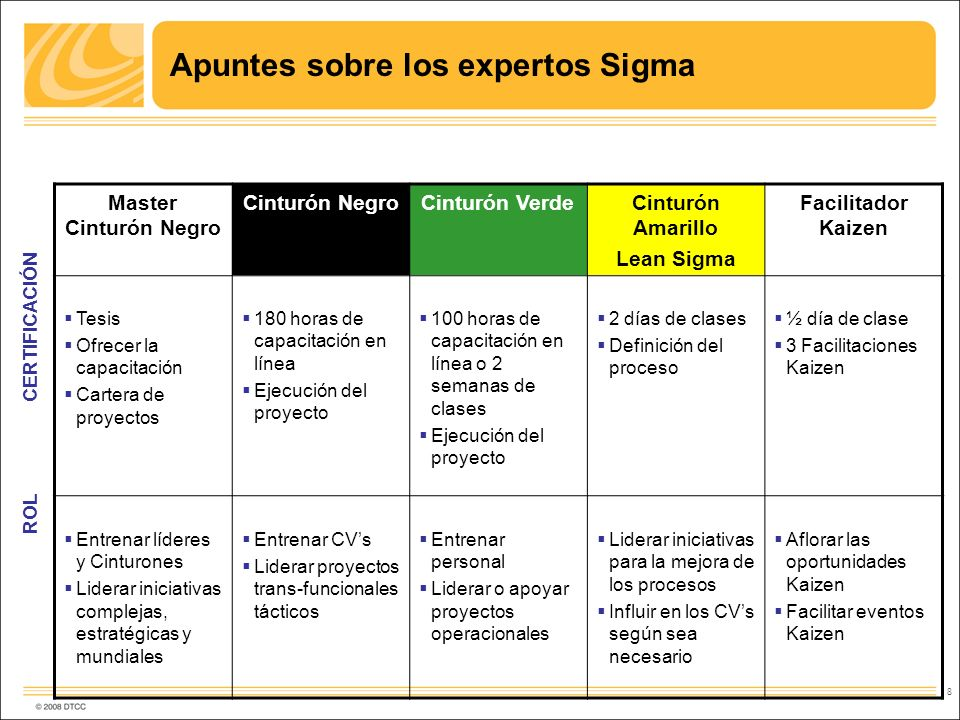 Apuntes sobre los expertos Sigma