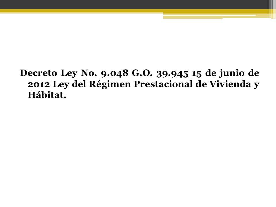Decreto Ley No. 9.048 G.O.