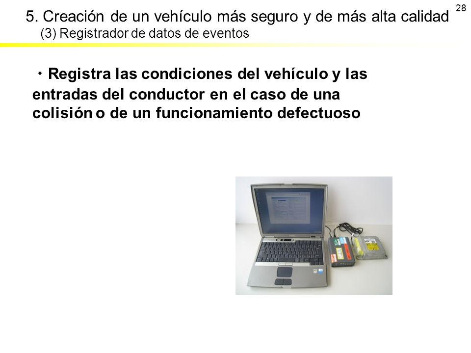 5. Creación de un vehículo más seguro y de más alta calidad (3) Registrador de datos de eventos