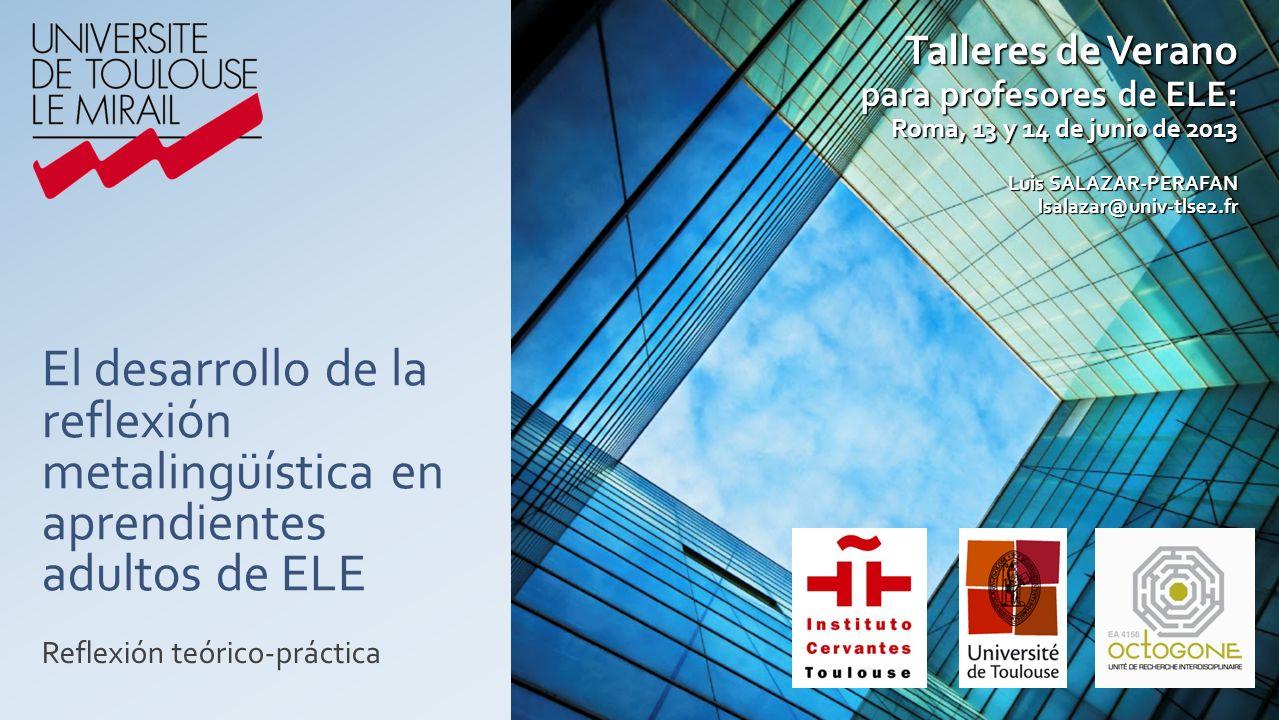 Talleres de Verano para profesores de ELE: Roma, 13 y 14 de junio de 2013.