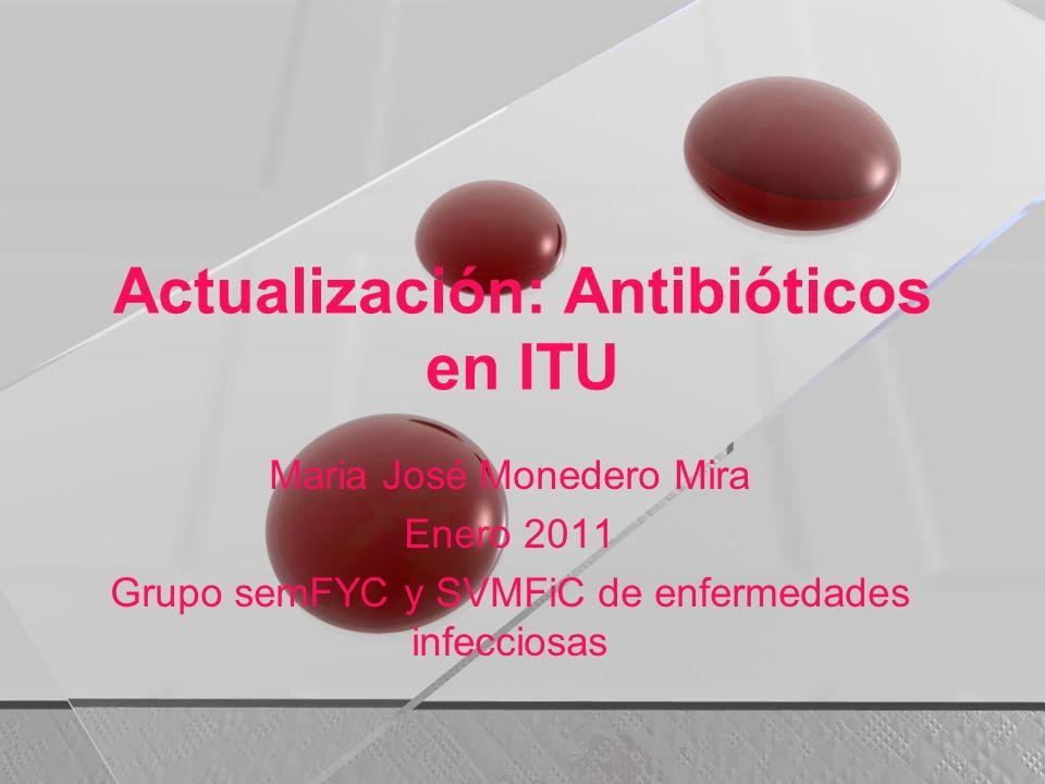 Actualización: Antibióticos en ITU