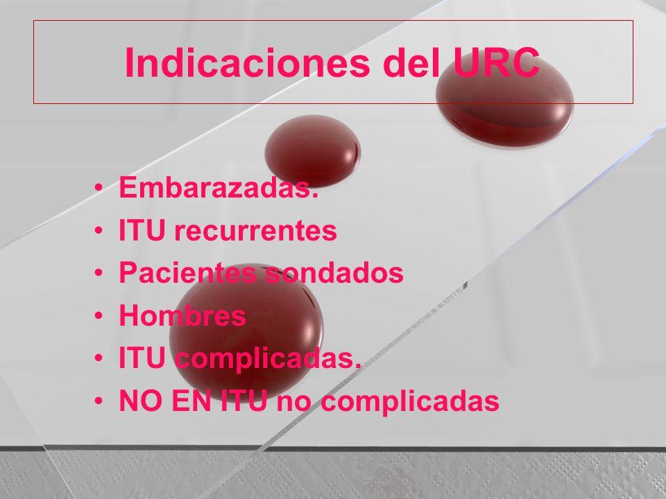 Indicaciones del URC Embarazadas. ITU recurrentes Pacientes sondados