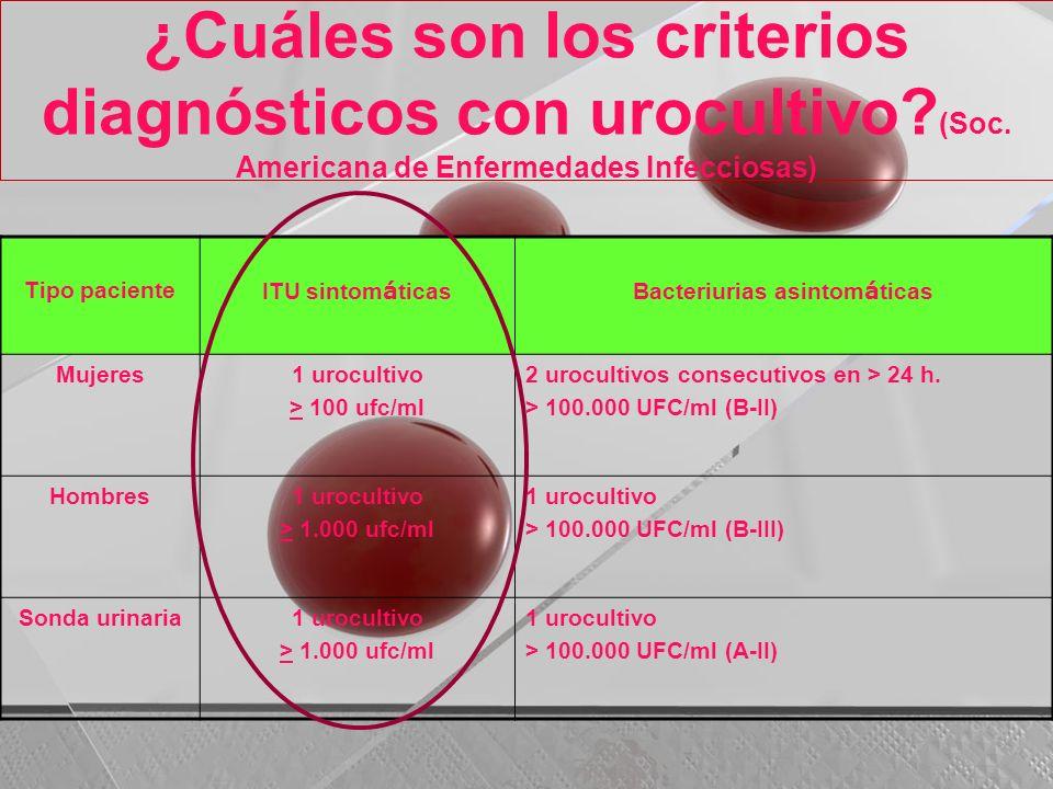 Bacteriurias asintomáticas