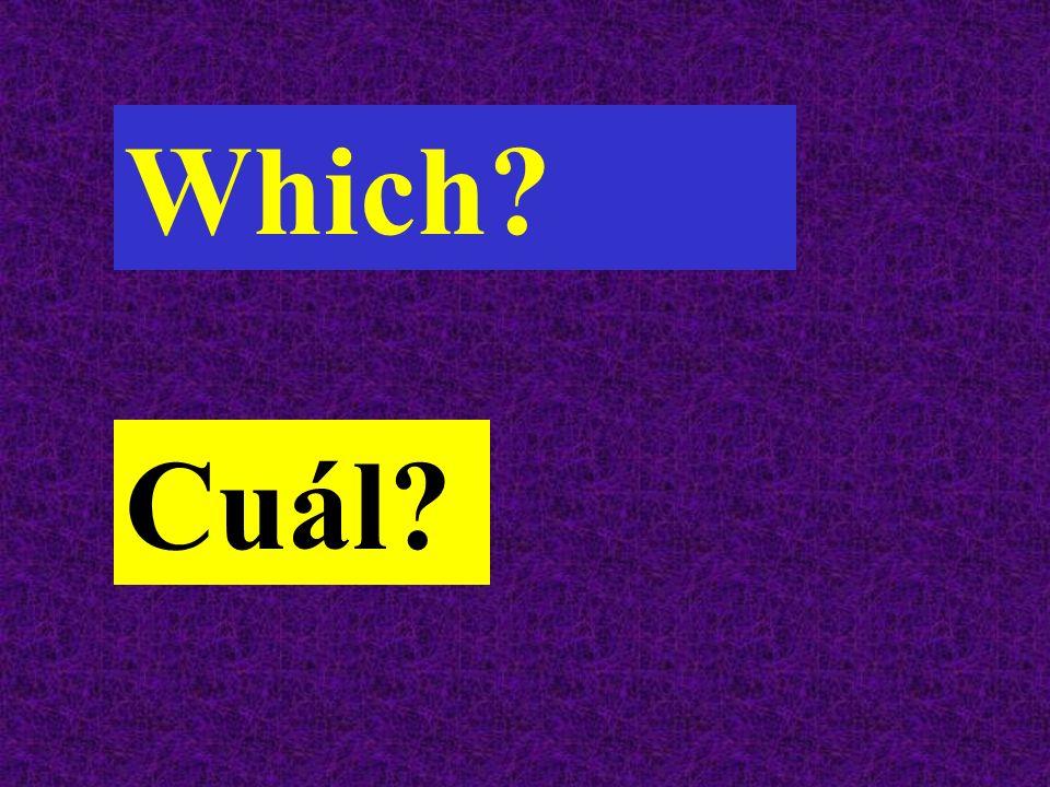 Which Cuál