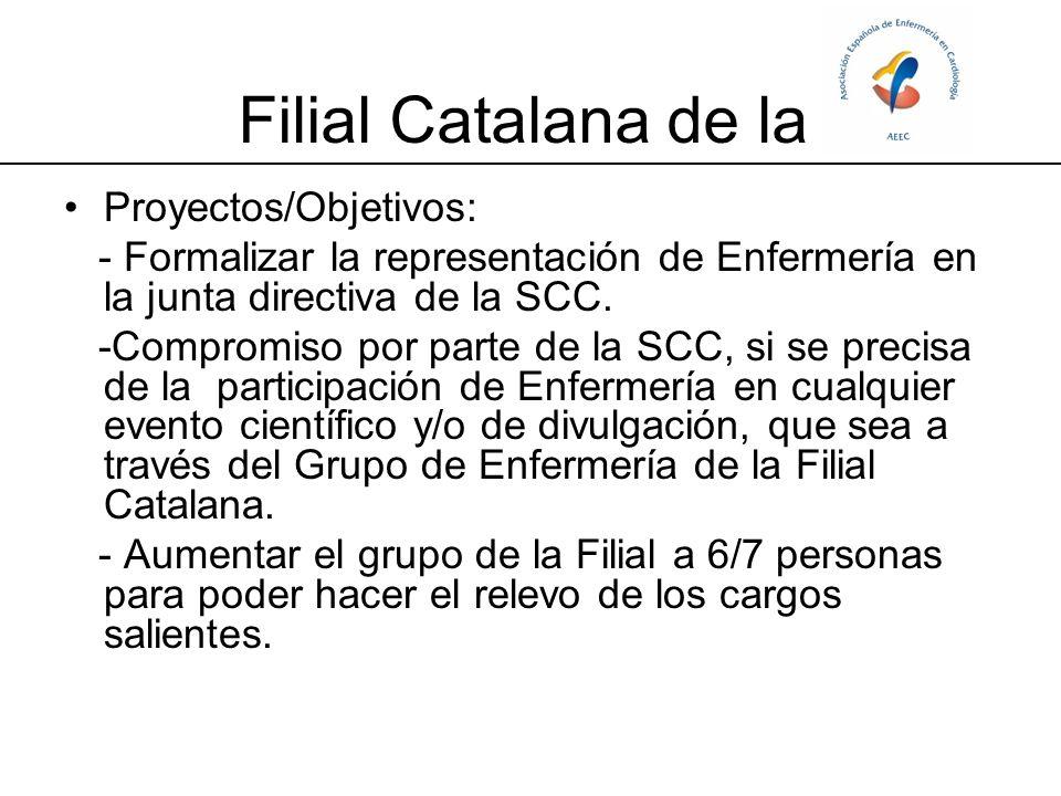 Filial Catalana de la Proyectos/Objetivos: