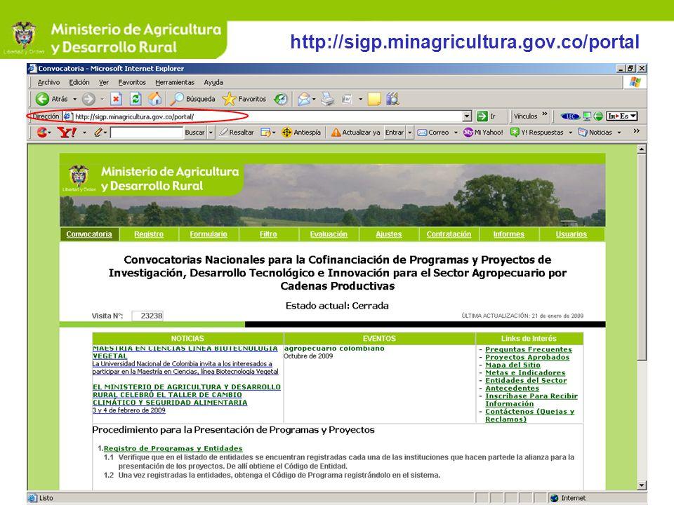 http://sigp.minagricultura.gov.co/portal