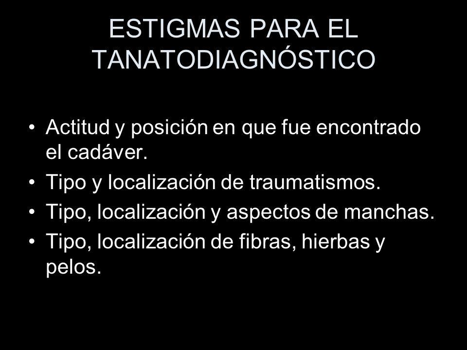 ESTIGMAS PARA EL TANATODIAGNÓSTICO