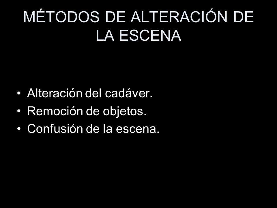 MÉTODOS DE ALTERACIÓN DE LA ESCENA