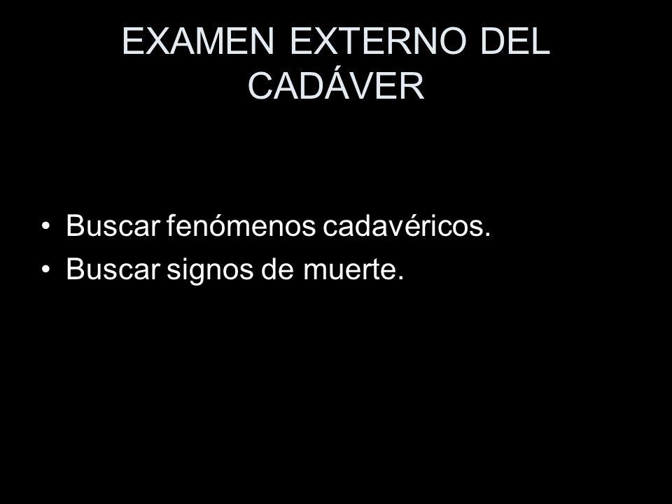EXAMEN EXTERNO DEL CADÁVER