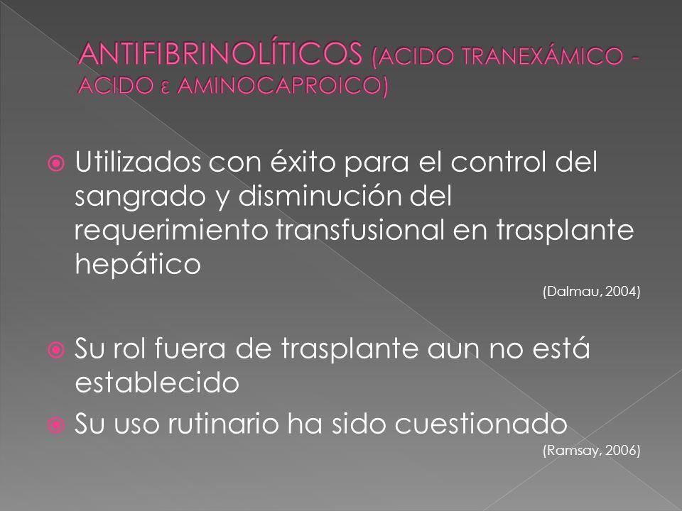 ANTIFIBRINOLÍTICOS (ACIDO TRANEXÁMICO - ACIDO ε AMINOCAPROICO)