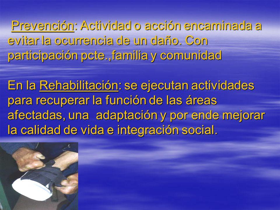 Prevención: Actividad o acción encaminada a evitar la ocurrencia de un daño.