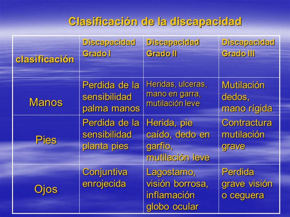 Clasificación de la discapacidad