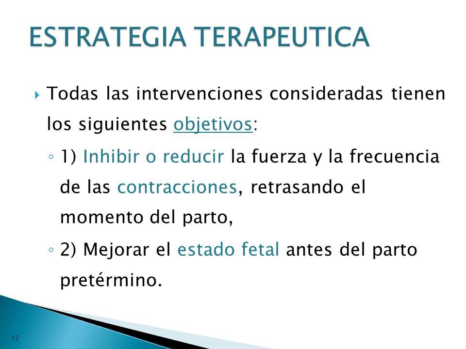 ESTRATEGIA TERAPEUTICA