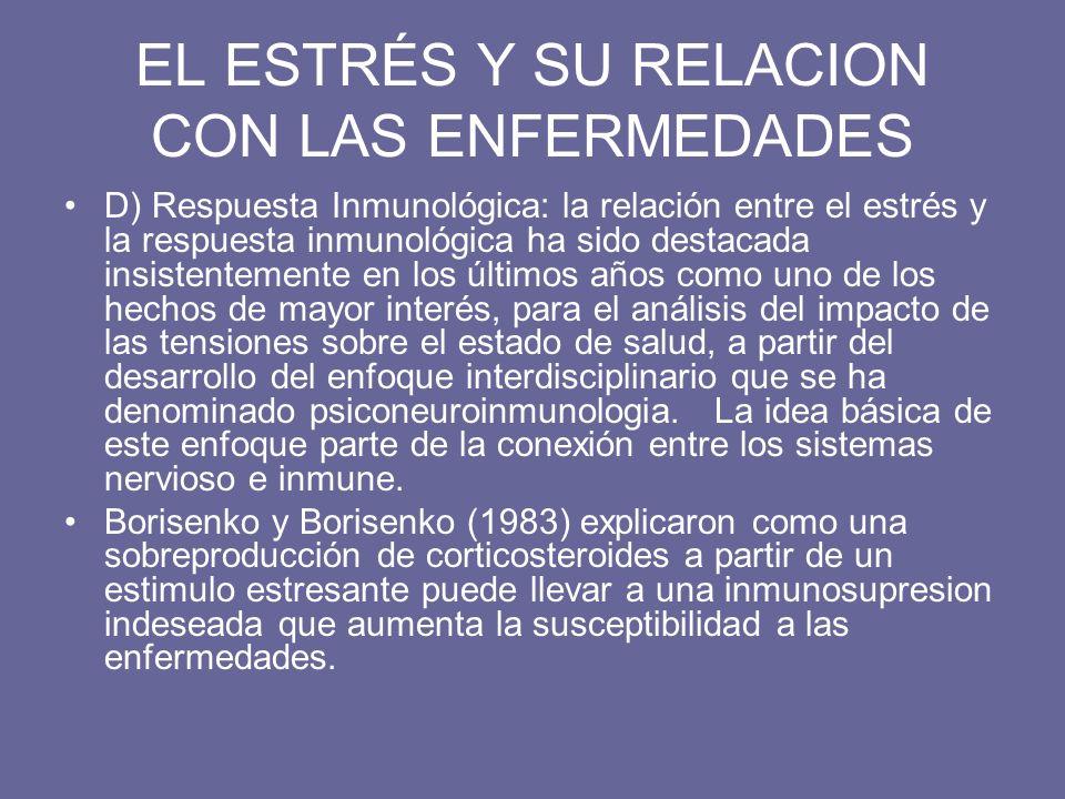 EL ESTRÉS Y SU RELACION CON LAS ENFERMEDADES