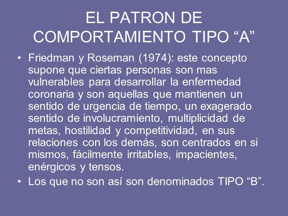 EL PATRON DE COMPORTAMIENTO TIPO A